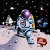 Cartoon: lost luggage (small) by toons tagged travel,space,the,universe,lost,luggage,nasa,spaceship,astronaut