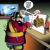 Cartoon: Lost luggage (small) by toons tagged pirates,lost,luggage,air,travel,treasure,chest