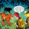Cartoon: Man eater (small) by toons tagged tigers,man,eaters,explorers,google,jungle,cats,big