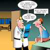 Cartoon: Morgue (small) by toons tagged morgue,terminal,illness,disease,sick