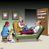 Cartoon: Multitasking (small) by toons tagged podiatry,podiatrist,feet,multitasking,foot,care,toes