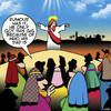 Cartoon: Nepotism (small) by toons tagged nepotism,bible,sermon,on,the,mount,relations
