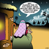 Cartoon: New years eve (small) by toons tagged babysitter,new,years,eve,bethleham,children,born,baby,jesus
