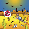 Cartoon: no ice skating (small) by toons tagged ice,skating,desert,island,vultures,lost,signs,abandoned,cactus