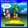 Cartoon: No messages (small) by toons tagged desert,island,new,messages,emails,message,in,bottle