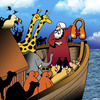 Cartoon: Noahs ark (small) by toons tagged life,jacket,demonstration,noahs,ark,airline,safety,animals,bible,stories