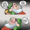 Cartoon: Obesity (small) by toons tagged diagnosis,fat,patient,results,terminal,illness