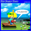 Cartoon: Ocean pollution (small) by toons tagged pollution,plastic,bags,ocean
