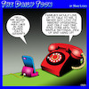 Cartoon: Old phone (small) by toons tagged smartphones,old,phones,grandpa,olden,days