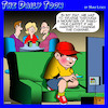 Cartoon: Olden days (small) by toons tagged shag,pile,carpet,remote,control,tv,grandparents