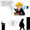 Cartoon: One out of three (small) by toons tagged donald,trump,honesty,integrity,lectern