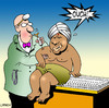 Cartoon: ouch (small) by toons tagged swami needles injection doctors medical indian