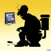 Cartoon: Paperless society (small) by toons tagged ipads,toilet,paper,paperless,society,newspapers