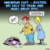 Cartoon: Pet Oyster (small) by toons tagged oysters,seafood,pets,marine,life