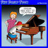 Cartoon: Piano lessons (small) by toons tagged piano,teacher,lessons,computer,keyboard,press,any,key,sheet,music
