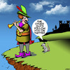Cartoon: Pied Piper (small) by toons tagged twitter,followers,pied,piper,fairy,tales,rats,tweeting
