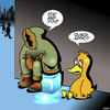 Cartoon: Quack addict (small) by toons tagged drugs,addictions,rehab,crack,addict,ice,ducks,eskimos,animals,birds