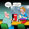 Cartoon: Quiche (small) by toons tagged cafe,quickie,quiche,snacks,sex,waitress,menu,breakfast,pronunciation