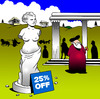 Cartoon: Sale (small) by toons tagged venus,de,milo,staue,sculpture,greece,art,ancient,grecian,artist,sales