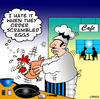 Cartoon: scrambled eggs (small) by toons tagged eggs,cooking,cafe,chickens,animals,restaurants