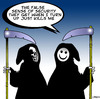 Cartoon: smiley face (small) by toons tagged smiley,face,death,apocolypse,afterlife,humour,laughter,four,horsemen,hell