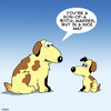 Cartoon: Son-of-a-bitch (small) by toons tagged dogs,puppies,son,of,bitch,hounds,bitches,motherhood