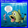 Cartoon: Spoiler alert (small) by toons tagged fishing,fish,hooks,worms,bait