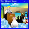 Cartoon: Staff entrance (small) by toons tagged employees,entrance,staff,members,saint,peter,gates,of,heaven