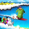 Cartoon: Surfing Israelite (small) by toons tagged moses,israelites,surfing,parting,the,sea,sport,egypt,pharohs,surfboard