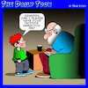 Cartoon: Tattoos (small) by toons tagged grandparents,tattoos,wills,kids,grandpa,bequest
