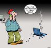Cartoon: Tech support (small) by toons tagged re,booting,tech,support,computers,laptops,phone,24,hour