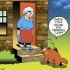 Cartoon: Termite inspection (small) by toons tagged termites,anteater,pests,ants,pest,inspection,timber,suburbia