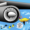 Cartoon: Texting while flying (small) by toons tagged texting,birds,while,driving,geese,airliner,jumbo,engine,jet,getting,ugly,online,social,media