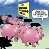 Cartoon: The Promised Land (small) by toons tagged animals,pigs,israel,pork,forbidden,food,jewish,passover