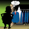 Cartoon: The Trump wardrobe (small) by toons tagged racism,donald,trump,white,supremacists,kkk,fashion,usa