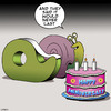 Cartoon: They said it would not last (small) by toons tagged tape,dispenser,snails,anniversary,cakes