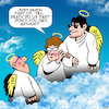 Cartoon: till death do we part (small) by toons tagged heaven,afterlife,till,death,do,we,part,handsome,stud,angels