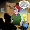 Cartoon: Twitter (small) by toons tagged tweety,bird,twitter,social,networks,birds,angry,tweeting
