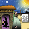 Cartoon: Two Dads (small) by toons tagged christmas,bethlehem,gay,marriage,two,fathers,mary,and,joseph
