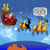 Cartoon: Uber taxi (small) by toons tagged santa,uber,taxi,christmas,xmas,rudolph,reindeer,sleigh