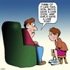 Cartoon: USB port (small) by toons tagged sex,education,usb,stick,port,birds,and,the,bees,father,son,talk