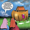 Cartoon: Weather forecast (small) by toons tagged noahs,ark,weather,forecast,biblical,proportions,bible,stories