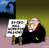 Cartoon: will work for millions (small) by toons tagged ceo big business excessive salary begging greed