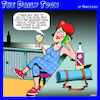 Cartoon: Yoga (small) by toons tagged yoga,class,wine,mat,gym,workout