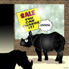 Cartoon: You can charge it (small) by toons tagged rhino,consumer,sale,credit,cards
