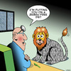 Cartoon: Zebra-free diet (small) by toons tagged lions,zebras,diets,animals,jungle,food,zebra,stripes,overeating
