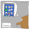 Cartoon: IPHONE 6 (small) by Müller tagged iphone,iphone6,handy,mobilephone