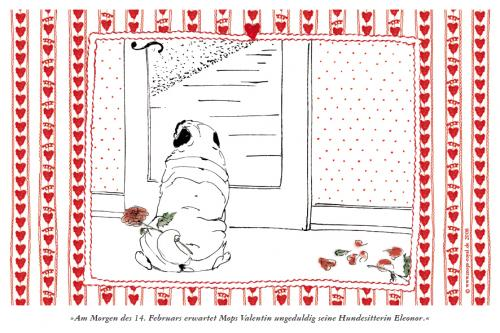Cartoon: Mops Valentin (medium) by Mops royal tagged mops,pug,carlin,hund,dog,tier,pet,valentinstag
