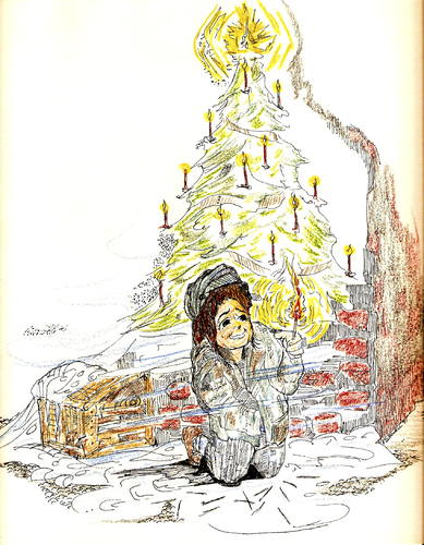 Cartoon: Little Matchstick Girl (medium) by Toonstalk tagged matchstick,girl,christmas,wishing,hunger,family,desertion,desperation,holidays,giving,kindness