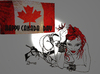 Cartoon: HAPPY CANADA DAY JULY 1ST 2011 (small) by Toonstalk tagged canada fun birthday sexy sensual spikes and heals celebrations flags fireworks